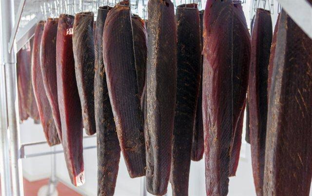 Mojama secadero secada proceso elaboración isla cristina barbate andalucía gourm