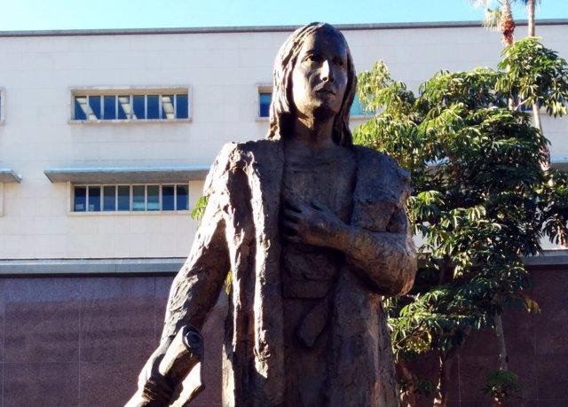 Estatua de Cristóbal Colón en el Grand Park de Los Ángeles