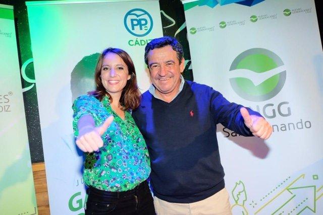 Andrea Levy, en un acto en la provincia de Cádiz