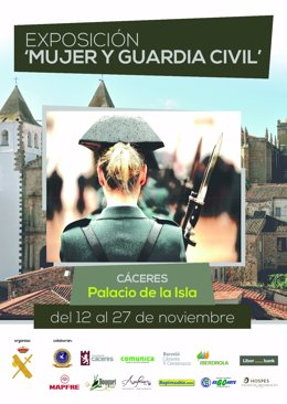 Cartel Exposición Guardia Civil en Cáceres