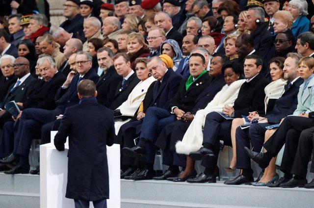 Emmanuel Macron, en su discurso del día del Armisticio
