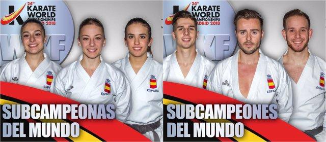 Equipo masculino femenino español Katas Mundial