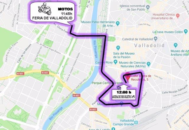 Valladolid.- Recorrido de la marcha