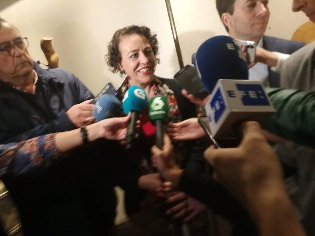 Magdalena Valerio, ministra de Trabajo, en Santiago de Compostela