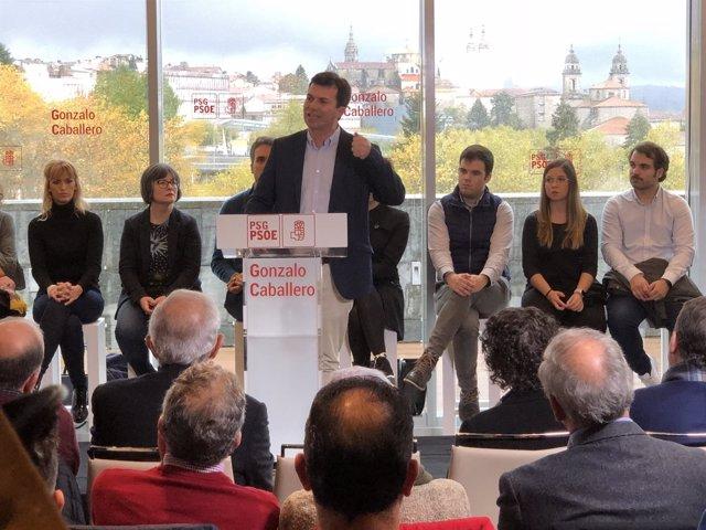 Gonzalo Caballero, proclamado candidato del PSdeG a la Xunta