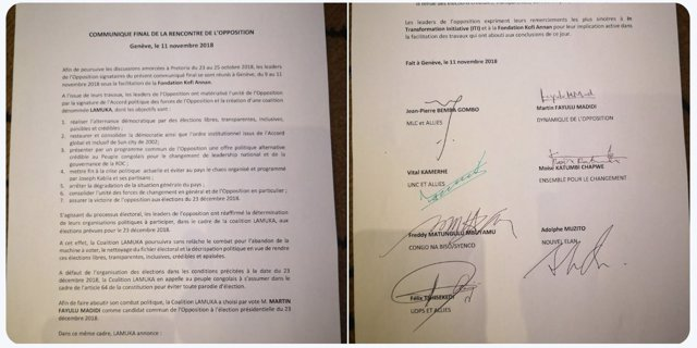 Acuerdo de la oposición para que Martin Fayulu sea candidato presidencial en RDC
