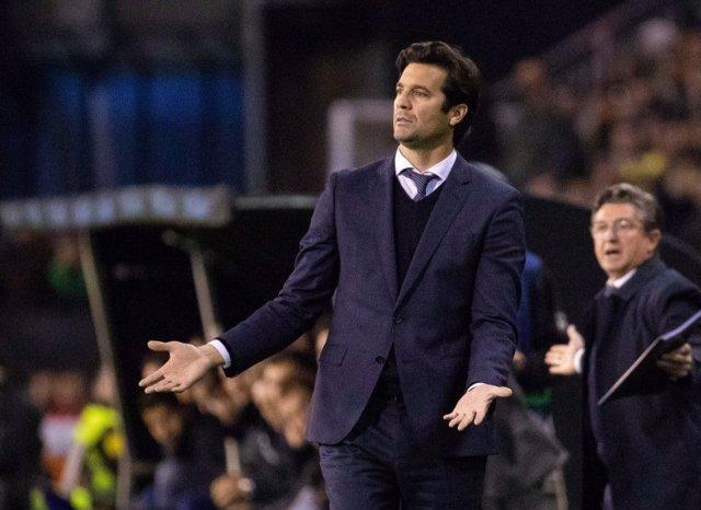 El entrenador del Real Madrid, Santiago Hernán Solari