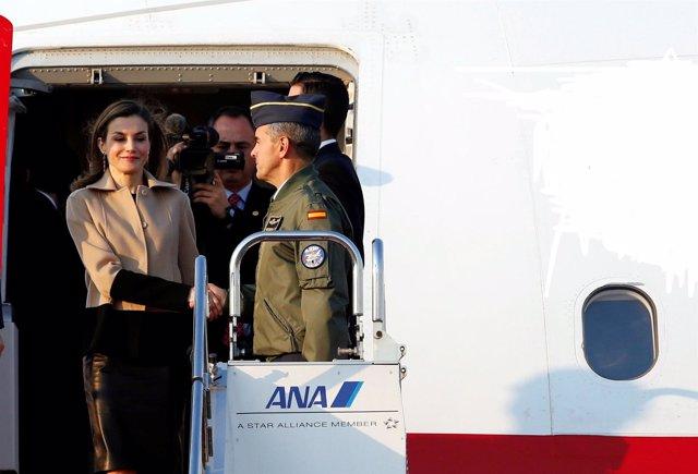 Reina Letizia en avión comercial (fotomontaje archivo reuters)