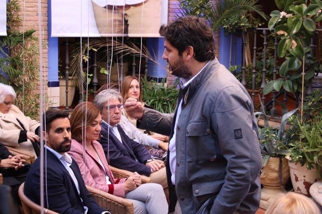 López Miras, durante el acto en Jumilla