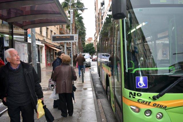 Parada autobús urbano