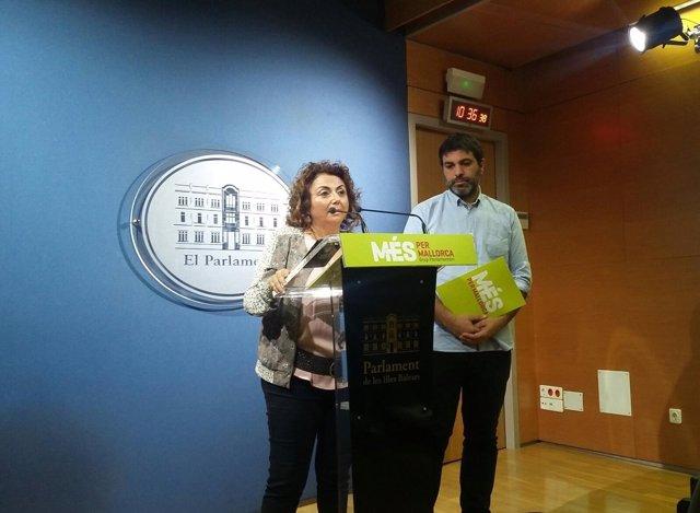 Josep Ferrà y Joana Aina Campomar, de MÉS