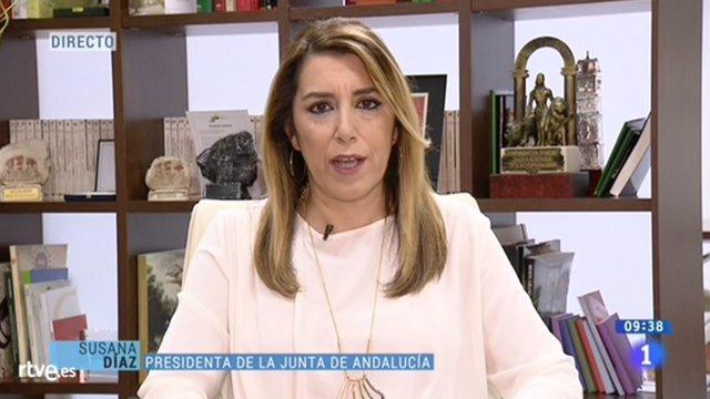 Susana Díaz, hoy en Los Desayunos de TVE
