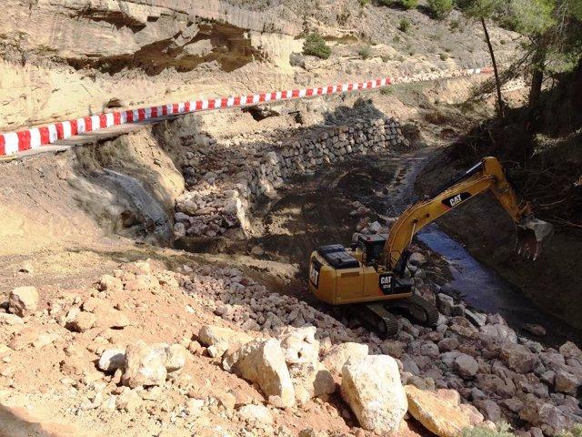 Arreglo carretera caminito del rey málaga tras inundaciones
