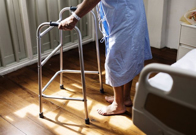 Mayores, hospital, paciente, asistencia