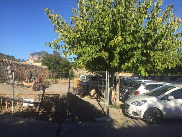 Imagen obras municipales en el aparcamiento Son Tugores
