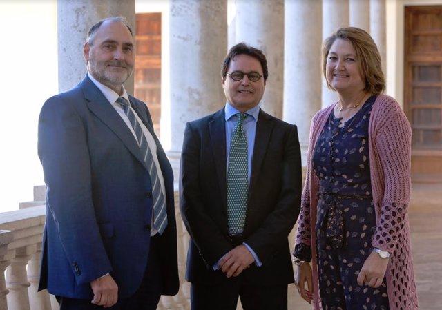 Carlos Hermenegildo, Jordi Garcés y  Mª Dolores Real Garcia