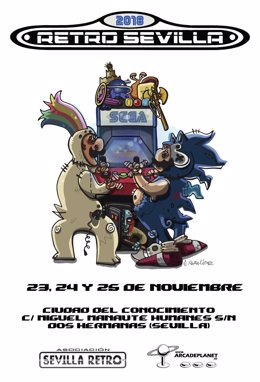 Cartel V edición Retro Sevilla 2018.