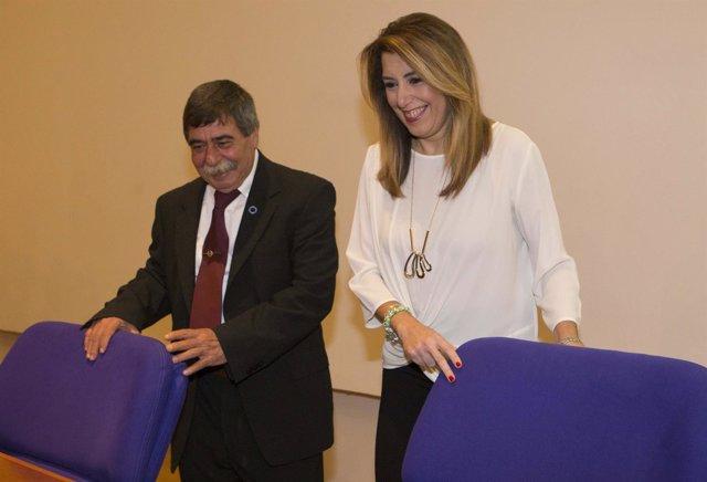 Susana Díaz con el presidente de la FADA