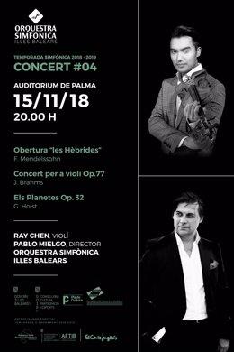 Cartel del concierto del romanticismo de la Sinfónica