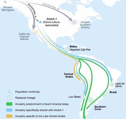 La población de América del Sur y Central fue relevada hace 9.000 años
