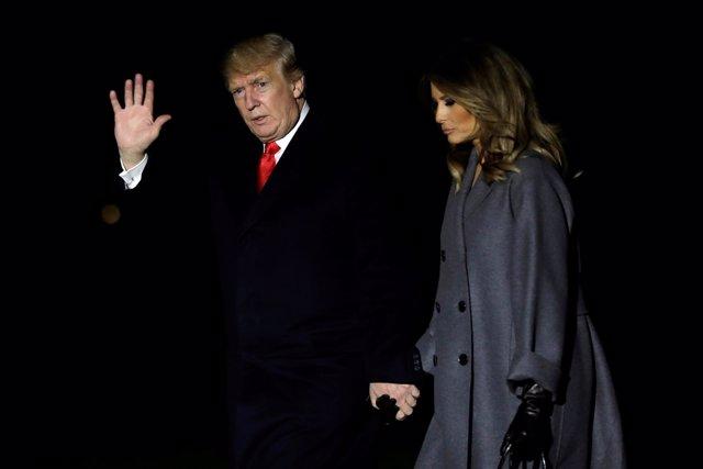 Donald Trump y su esposa, Melania Trump
