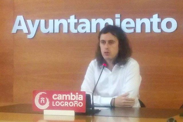 Gonzalo Peña, en la rueda de prensa