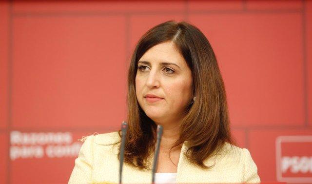 La portavoz del Comité Electoral del PSOE, Esther Peña