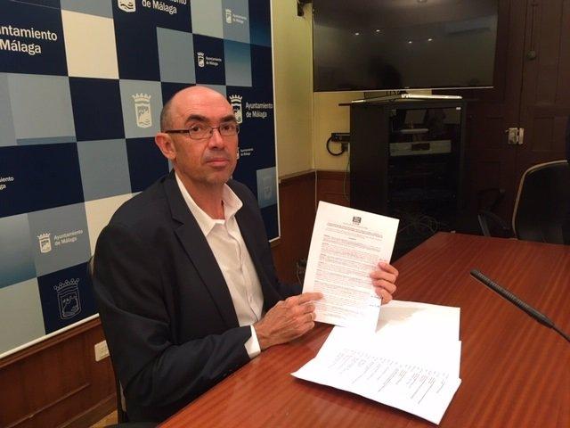 Eduardo Zorrilla, IU-MPG, en rueda de prensa