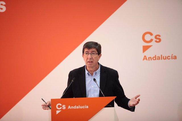 Juan Marín, candidato de Cs a la presidencia del gobierno de la Junta