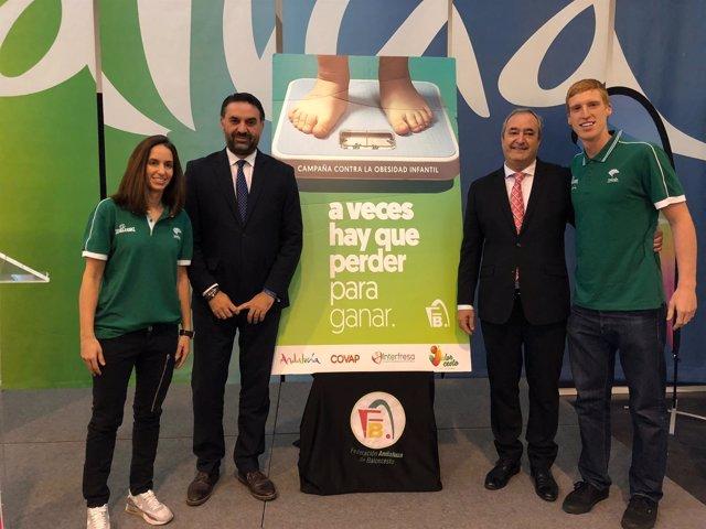 Presentación campaña obesidad con consejero de Turismo y Deporte