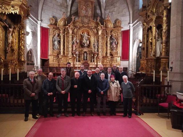 Imagen del acto de apertura a los visitantes de la Conccatedral de Santa María