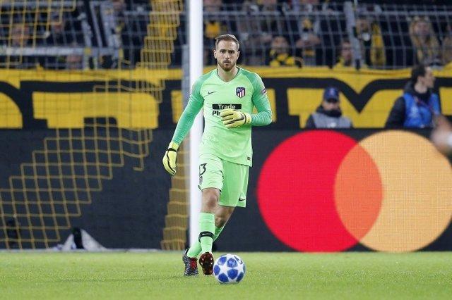Jan Oblak en el partido ante el Dortmund