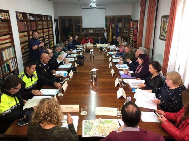 Junta Regional de Seguridad para la manifestación del tren en Cáceres