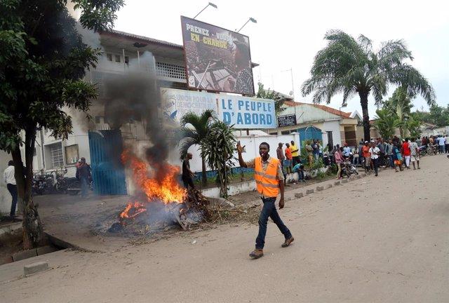 Disturbios en Kinshasa tras la elección de Martin Fayulu como candidato unitario