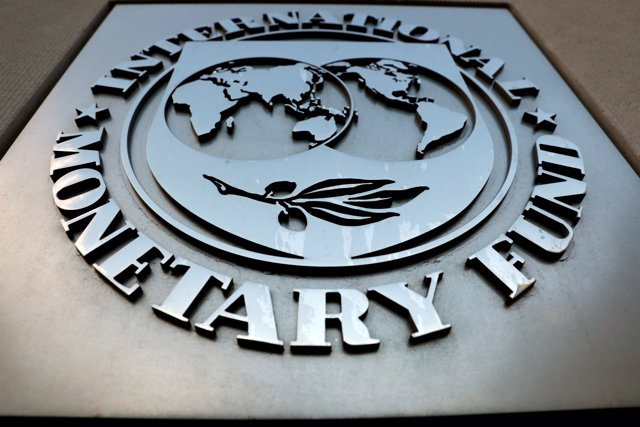 FILE PHOTO: The International Monetary Fund (IMF) logo is seen outside the headq