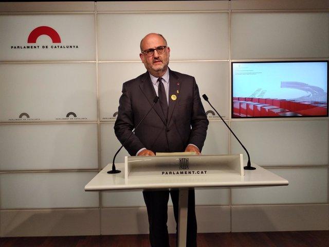 El portavoz adjunto de JxCat, Eduard Pujol