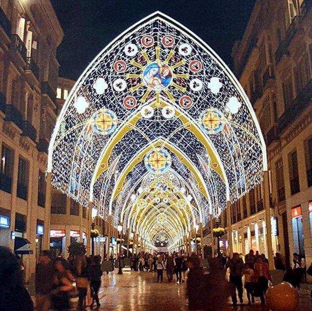 Iluminación navideña de Málaga por Ximénez