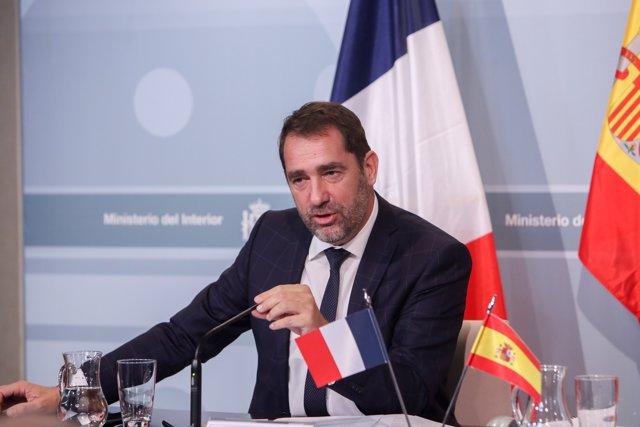Fernando Grande-Marlaska se reúne con el ministro de Interior francés, Cristophe Castaner