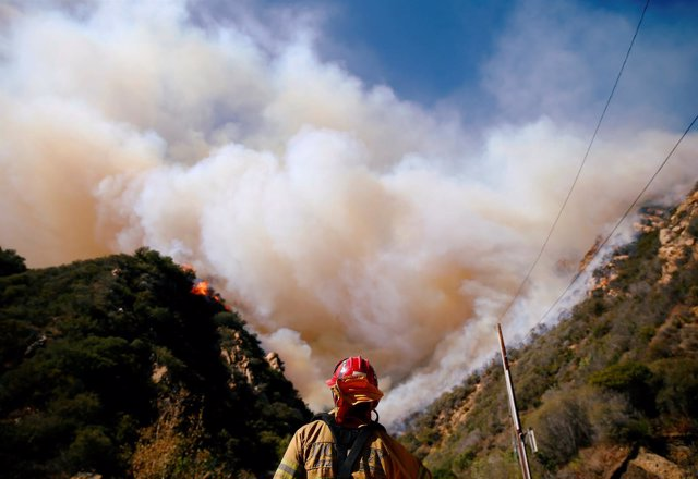 Incendio en Malibú, California