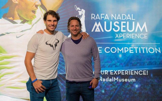 David Nalbandian visita la Rafa Nadal Academy by Movistar
