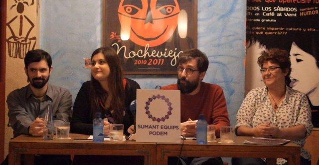 Presentación de la canidatura Sumant Equips Podem