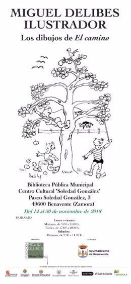 Cartel muestra 'Miguel Delibes Ilustrador'