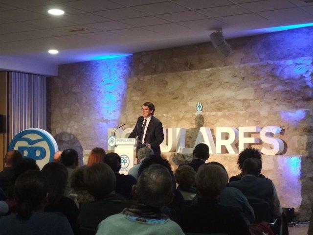 Fernández Mañueco, durante la convención en Zamora.