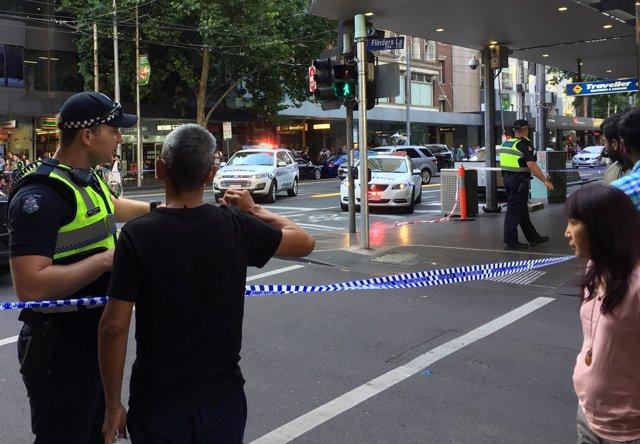 Imágenes posteriores a un atropello ocurrido en Melbourne