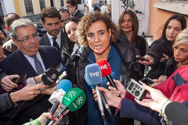 En Sevilla, la portavoz del Grupo Parlamentario Popular en el Congreso de los Di