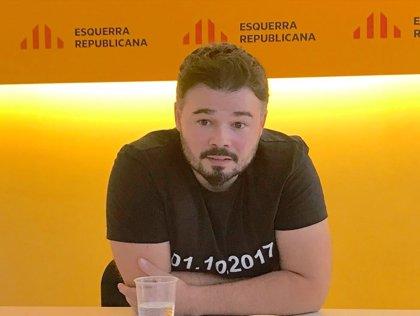 """Rufián ve la elección de Marchena como un """"premio"""" a quienes han """"reprimido"""" al independentismo catalán"""