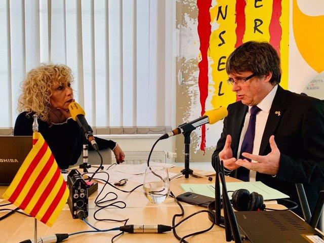 Carles Puigdemont en Catalunya Ràdio