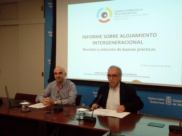 Antidio Martínez de Lizarrondo y Patxi Tuñon en la presentación del informe