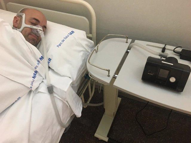 Dispositivo virtual con seguimiento a distancia de la apnea del sueño