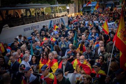 Dos detenidos en Terrassa y Barcelona por amenazas a agentes en la manifestación de Jusapol